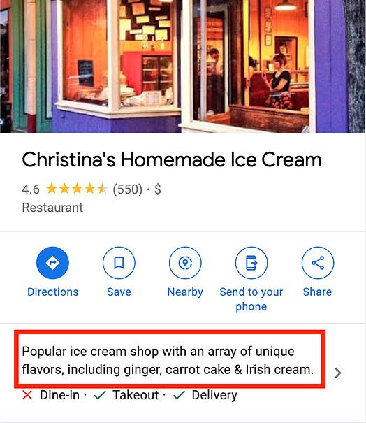 Google இல் எனது வணிக சுயவிவரத்தில் உகந்த அறிமுகம்