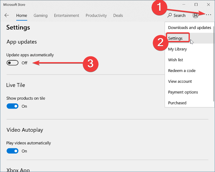Disable Automatic Updates for Microsoft Store apps