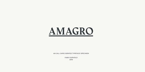 Screenshot of the Amagro font