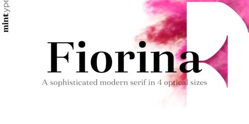 Screenshot of the Fiorina font