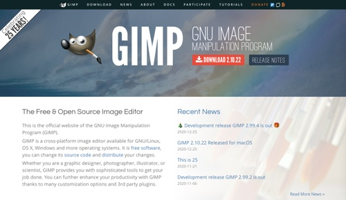 Gimp home page