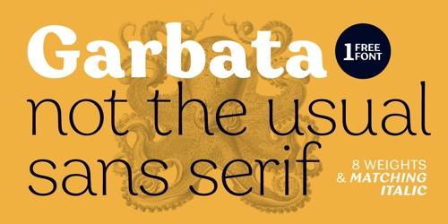 Screenshot of the Garbata font