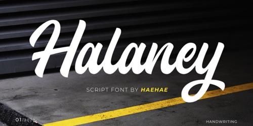 Screenshot of the Halaney font