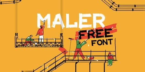 Screenshot of the Maler font