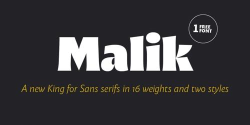 Screenshot of the Malik font
