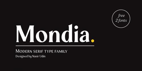 Screenshot of the Mondia font