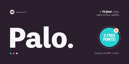 Screenshot of the Palo font