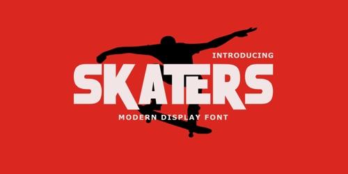Screenshot of the Skaters font