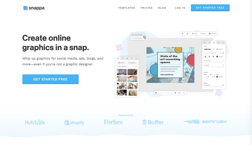 Snappa home page
