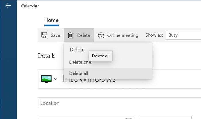 add or delete reminders in Windows 10 Calendar pic11