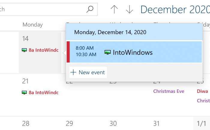 add or delete reminders in Windows 10 Calendar pic9