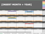 Приклад календаря вмісту