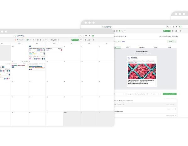 loomly social media calendar feature