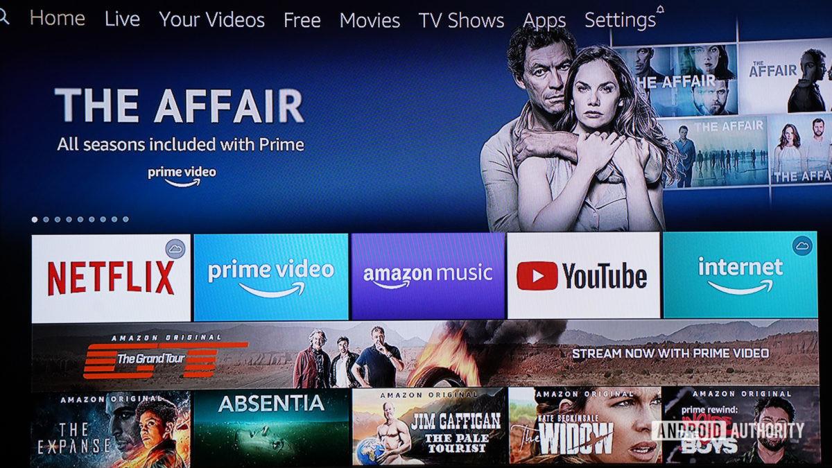 Amazon Fire TV Cube menu system
