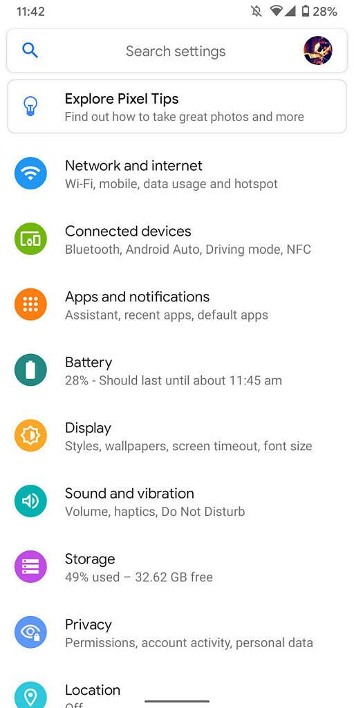 Android 11 instellingenpagina