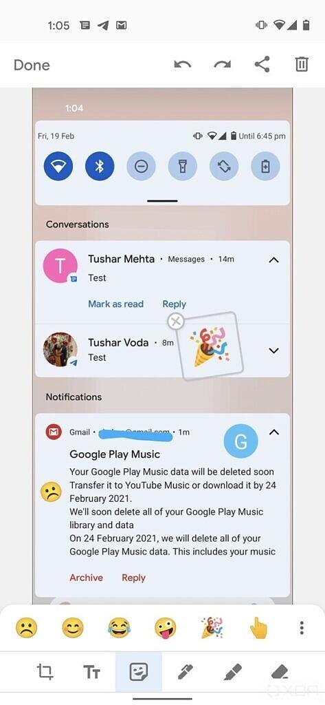 Android 12 markup emojis