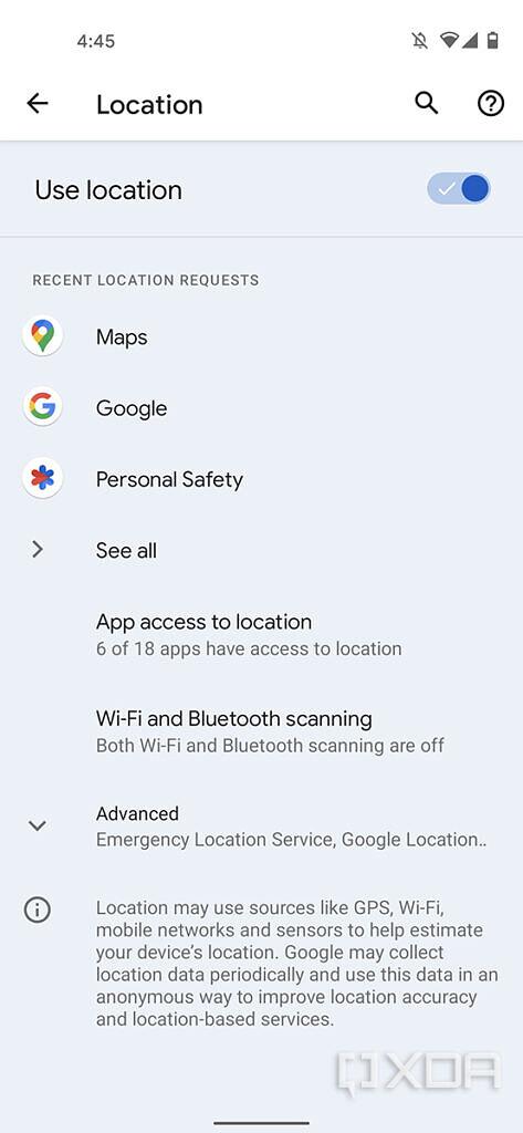 Android 12 schakelt