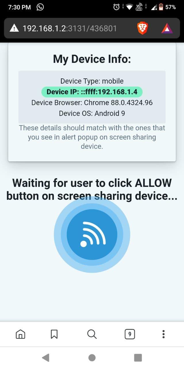 Deskreen viewer tab android 2