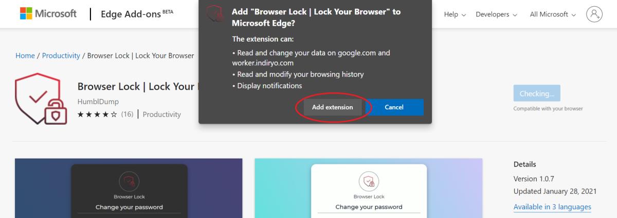 Lock Edge with Passcode