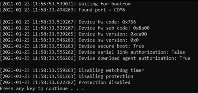 MediaTek SP Flash Tool Authentication Bypass
