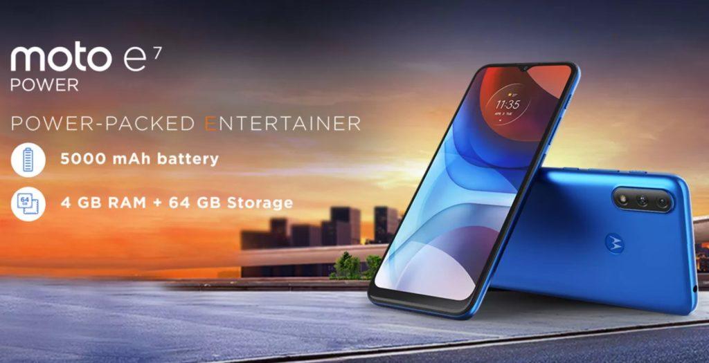 Moto E7 Power will go live on sale on February 19th on Flipkart
