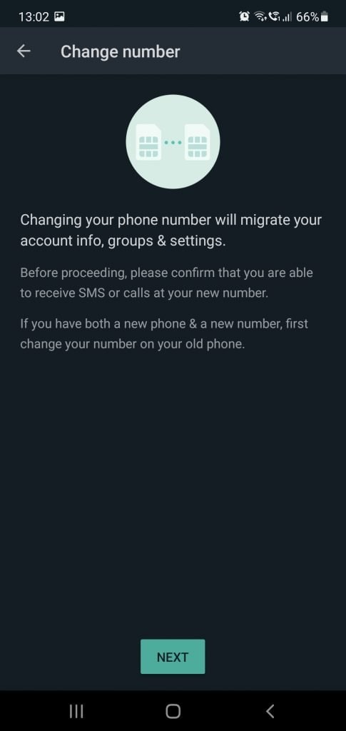 WhatsApp Change Number A