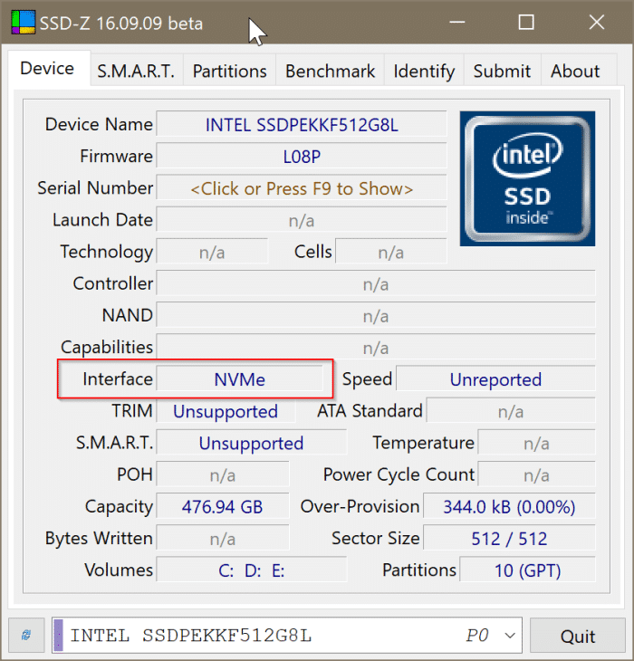 check if your PC has NVMe SSD or SATA SSD In Windows 10 pic8