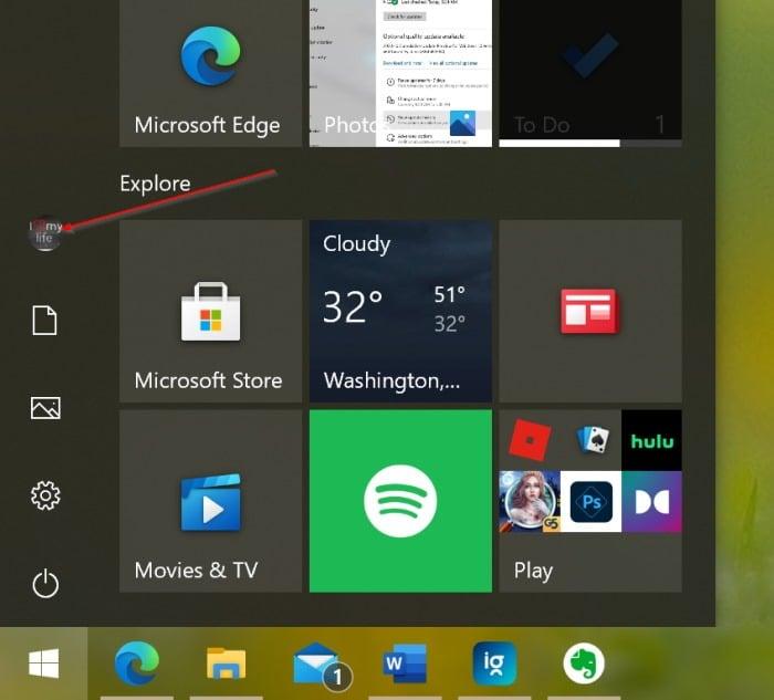 lock Windows 10 pc1