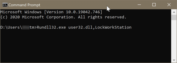 lock Windows 10 pc2