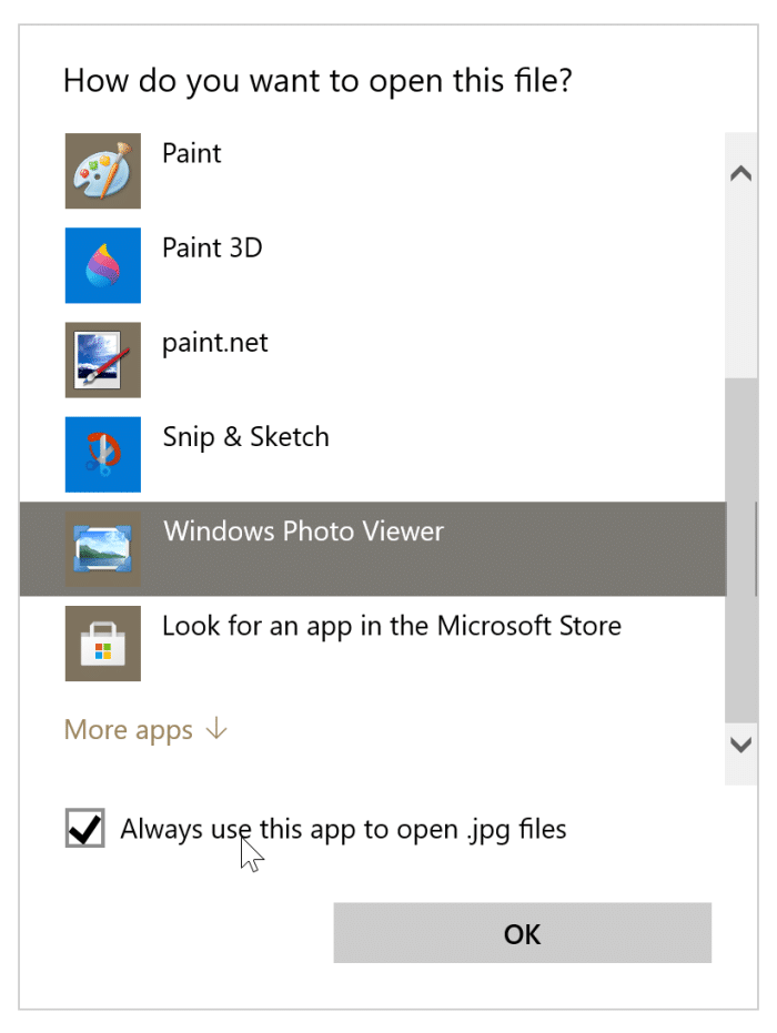 preview option missing from Windows 10 context menu pic3
