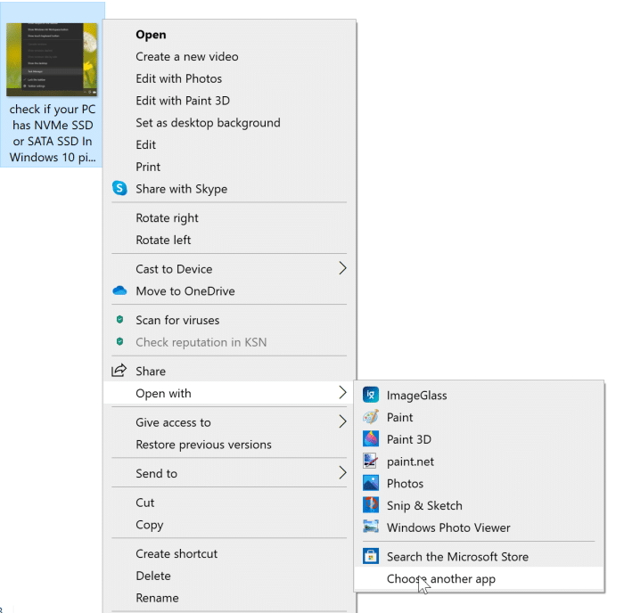preview option missing from Windows 10 context menu pic5