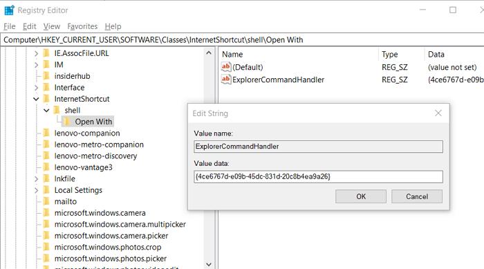 Add URL File Extension Registry