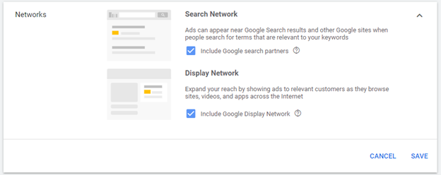Google AdWords - Search and display