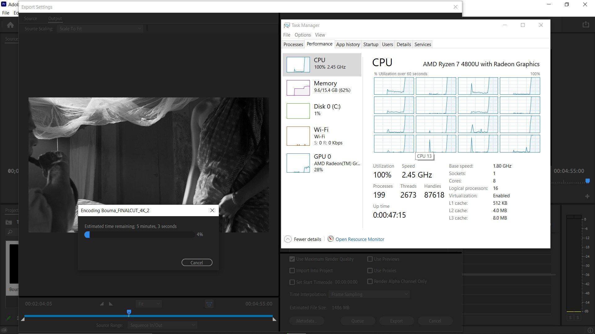 Lenovo Ideapad Slim 7 - AMD Ryzen 7 4800U CPU Encode