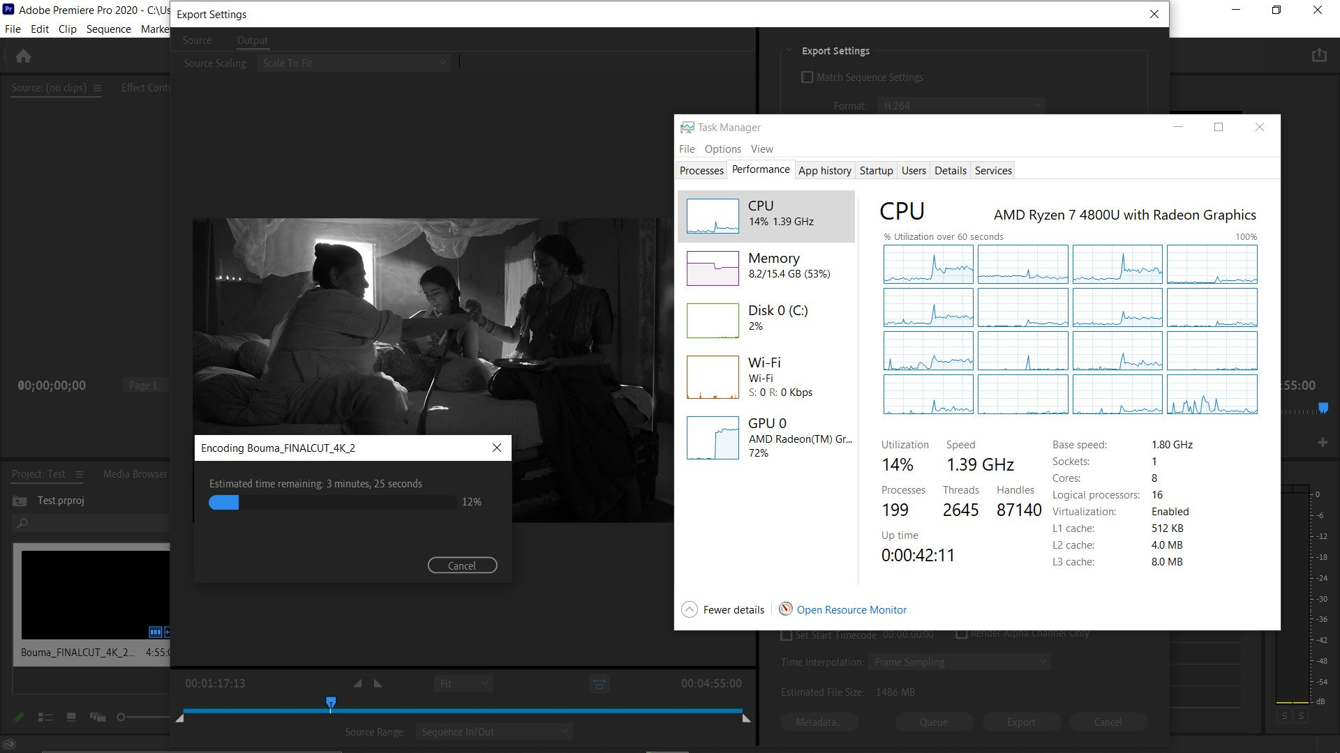 Lenovo Ideapad Slim 7 - AMD Ryzen 7 4800U GPU Encode