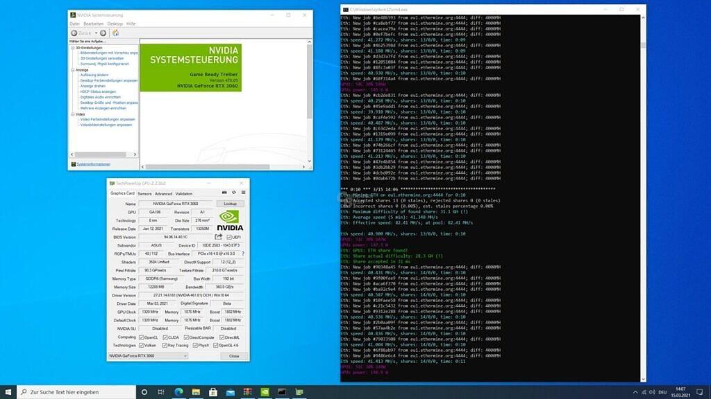 NVIDIA RTX 3060 Ethereum hash rate unlocked