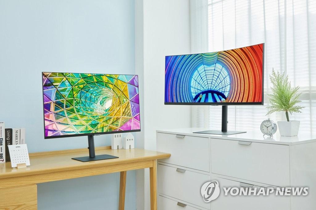 Samsung UHD Monitors - Yonhap News