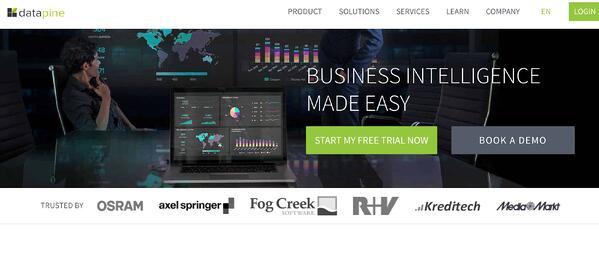 Business Intelligence & Data Reporting Tools example datapine