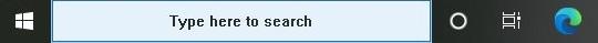 Updated taskbar