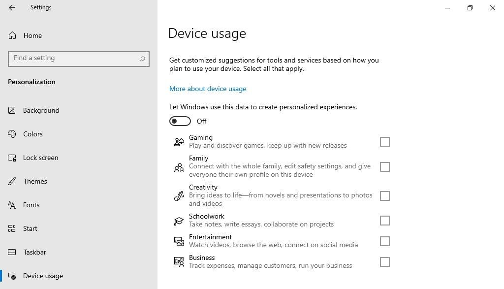 Windows Device Usage
