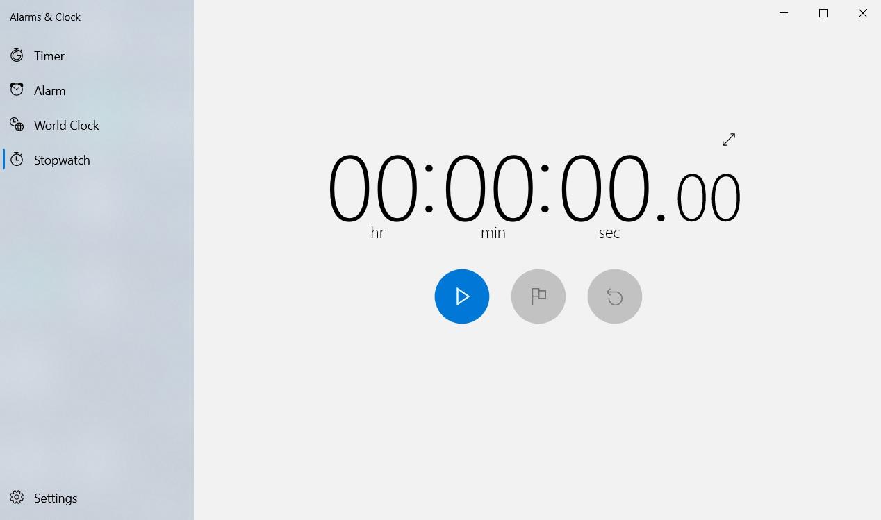 Windows Stopwatch