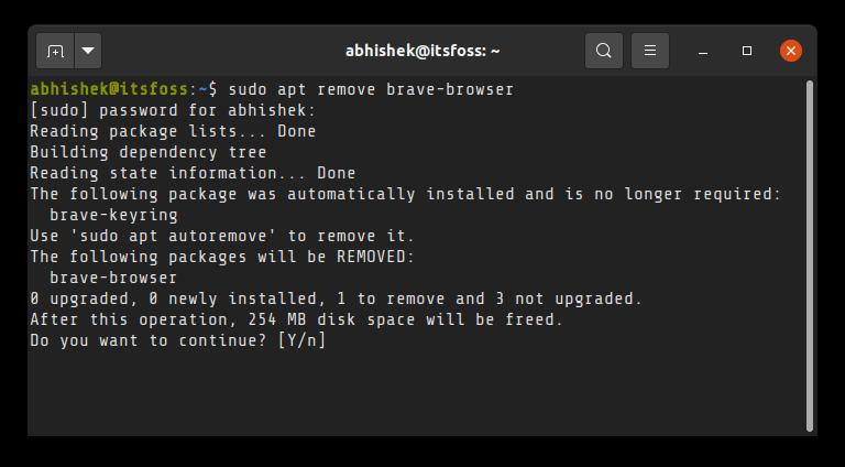 Apt Remove Program Ubuntu