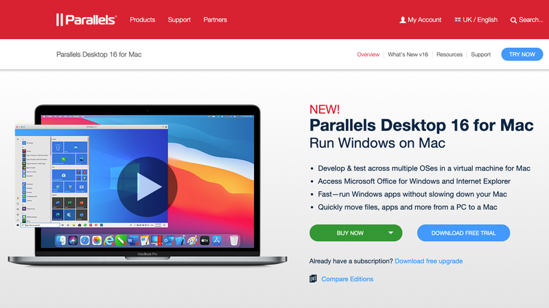 Can i run older versions on macOS on M1 Macs? : Parallels