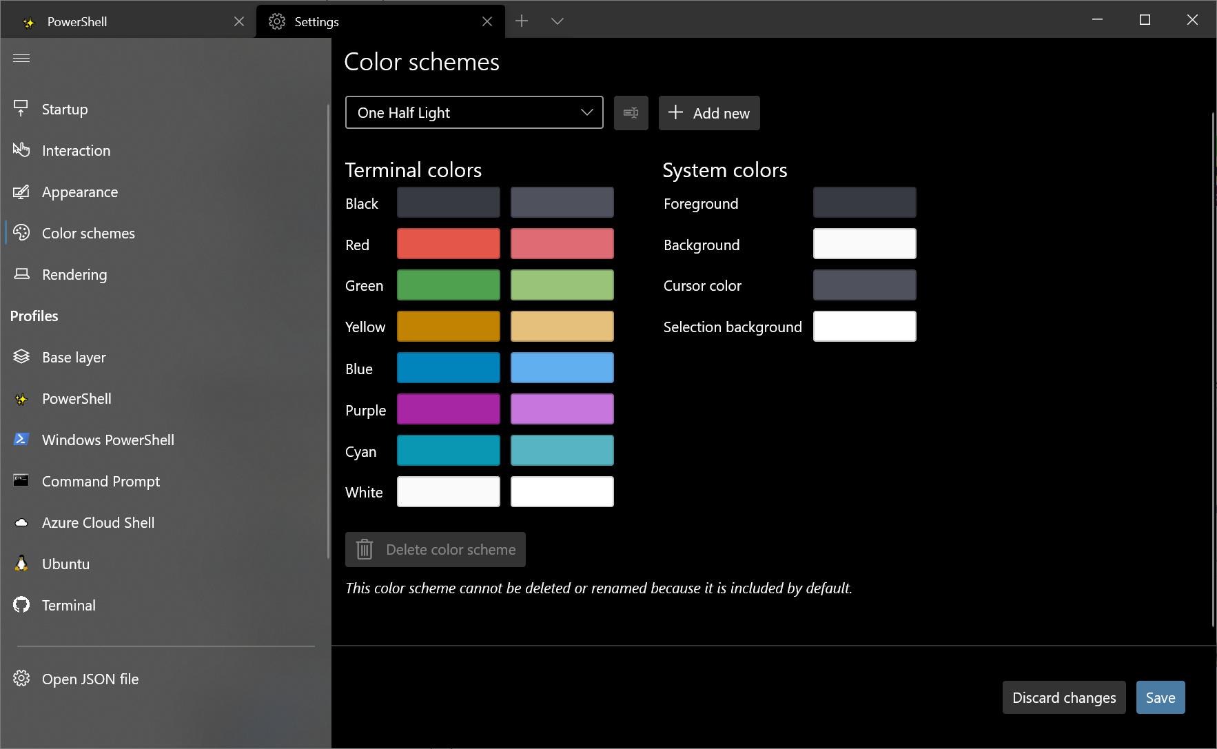 Image color schemes