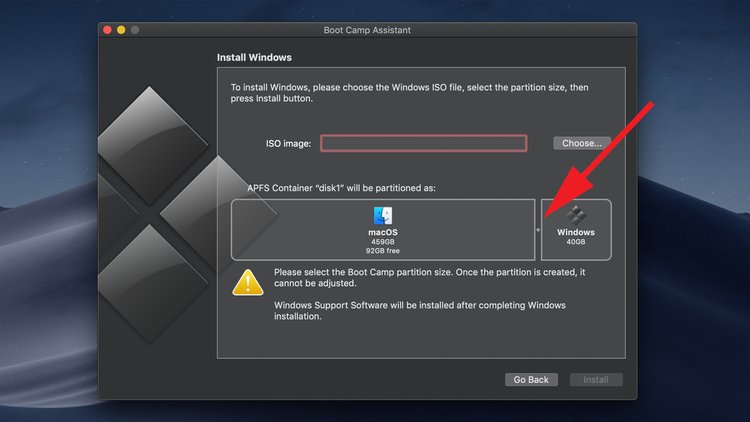 How to install Windows on a Mac: Partitioning your hard drive
