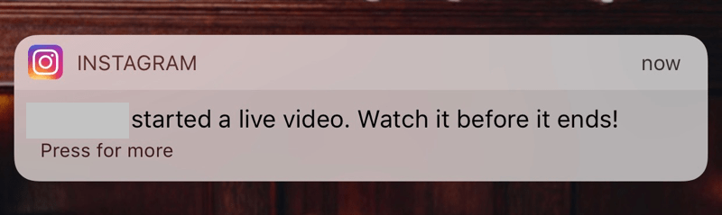 Stop Getting Live Video Notifications for One Person on Instagram