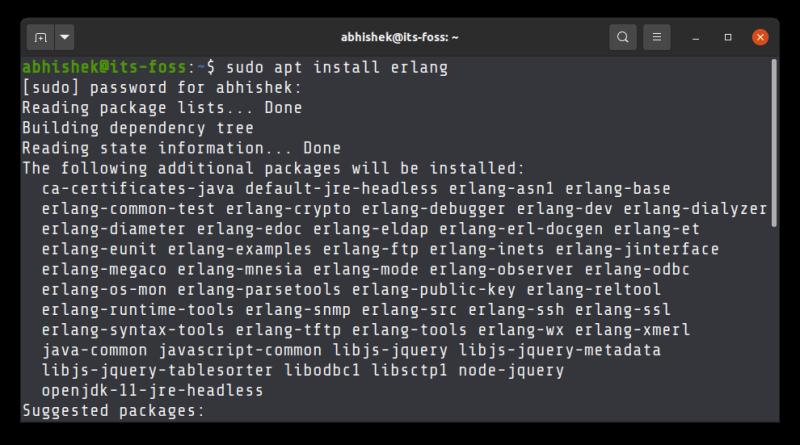 Install Erlang Ubuntu