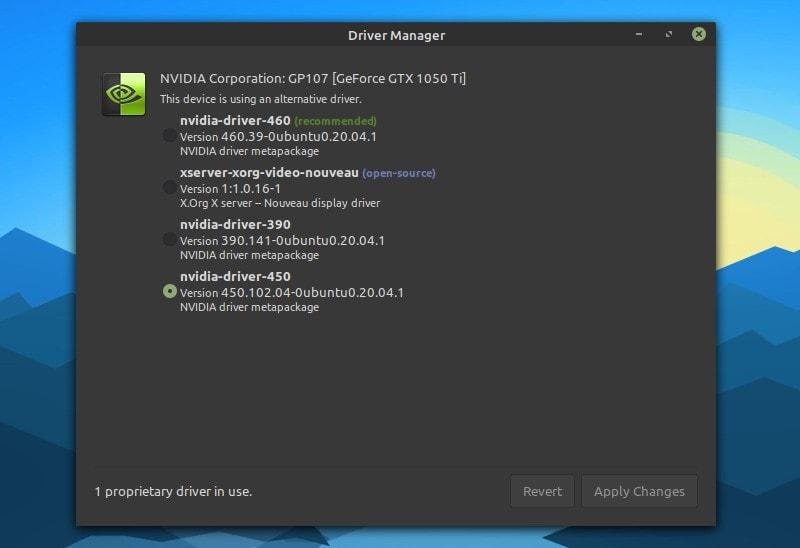 linux mint nvidia drivers