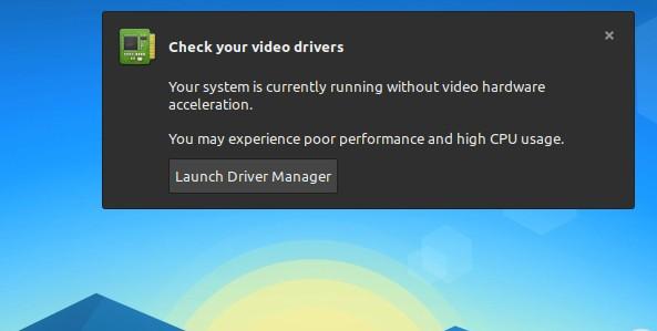 linux mint no driver