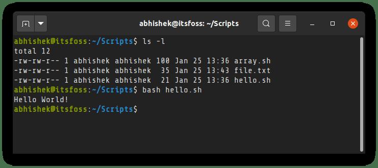 Run A Shell Script Linux